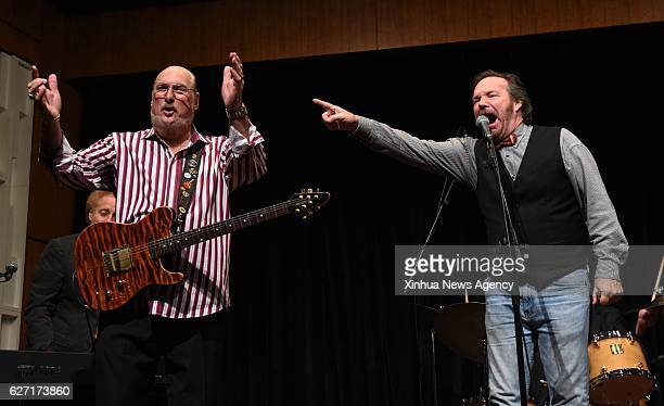 C Dec 1 2016 Grammy award winning guitarist Steve Cropper performs during a ceremony on which he donated three solidbody guitars and an amplifier to...
