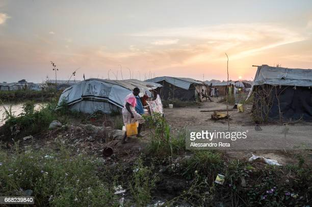 Dec 11 2014 daily life at PoC site 4 insiede of UN base in Bentiu Unity state SouthSudan This area is considered the frontline of the conflit at...