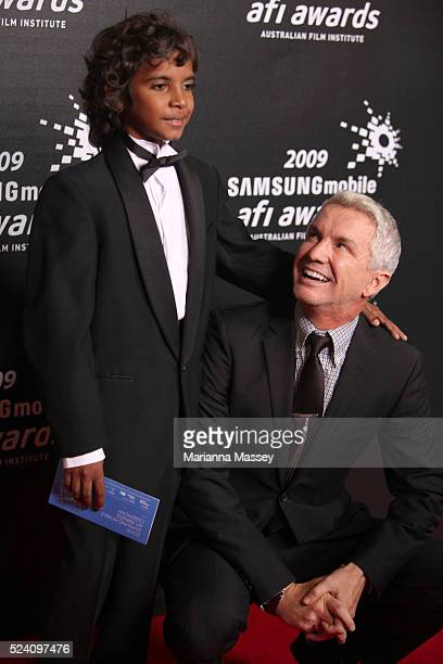 Dec 12 2009 Melbourne Victoria Australia Actor Brandon Walters with Director Baz Luhrmann arrive for the 2009 Samsung Mobile AFI Awards at the Regent...