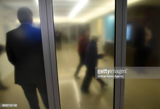 WASHINGTON Dec 13 2017 Janet Yellen leaves after her last news conference as US Federal Reserve Chair in Washington DC the United States on Dec 13...