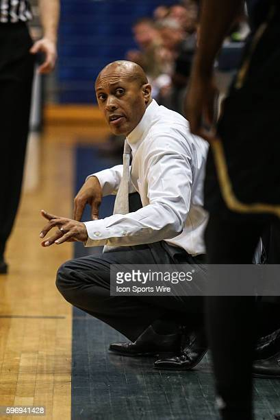 Florida International Golden Panthers head coach Anthony Evans during the NCAA men's basketball game between Florida International and North Florida...
