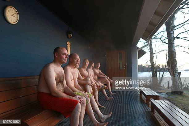 HELSINKI Dec 14 2016 Members of the Finnish Sauna Society chat with each other in Helsinki capital of Finland Dec 10 2016 Founded in 1937 Finnish...