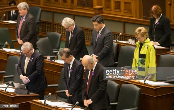 TORONTO Dec 14 2017 Members of the Ontario provincial parliament take part in the moment of silence to recognize Ontario's first Nanjing Massacre...