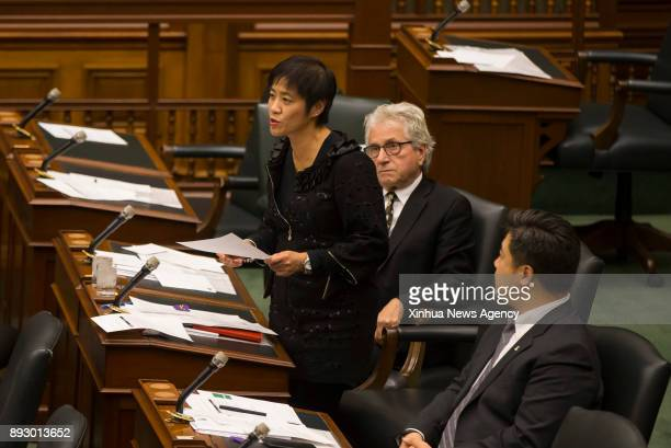 TORONTO Dec 14 2017 Soo Wong a member of the Ontario provincial parliament speaks before the moment of silence to recognize Ontario's first Nanjing...