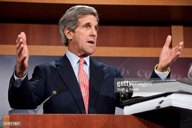 Senate Foreign Relations Chairman John Kerry DMass during a news conference on the START nuclear arms treaty with Russia