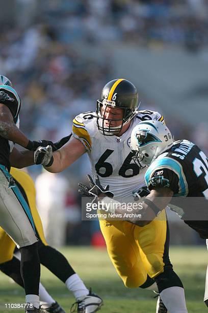 Dec 17 2006 Charlotte NC USA NFL Football Pittsburgh Steelers Alan Faneca against Carolina Panthers Shaun Williams at Bank of America Stadium The...