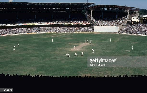 General view of the 2nd Test match between India and England at Bangalore.