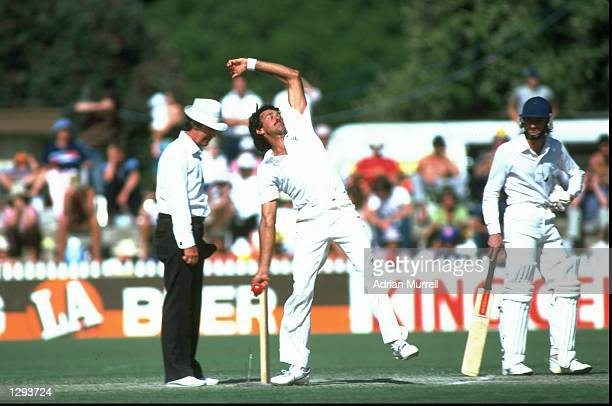 Bruce Yardley of Australia bowls during the Third Test match against England at the Adelaide Oval in Australia Australia won the match by eight...