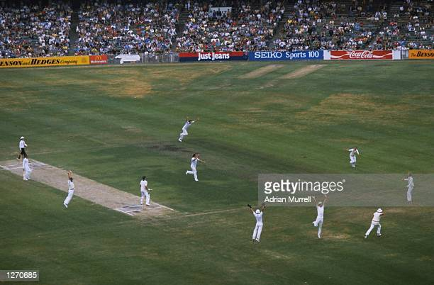 General view of the the Fourth Ashes Test match between Australia and England at the Melbourne Cricket Ground in Australia England won the match by...