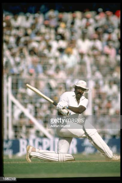 An action picture of West Indies captain Clive Lloyd. Mandatory Credit: Adrian Murrell/Allsport UK