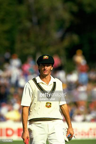 Steve Waugh of Australia in action during the Third Ashes Test match against England at the Adelaide Oval in Autsralia The match ended in a draw...