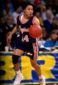 Dec 1991 dawn staley of the virginia cavaliers moves the ball during picture id314244?s=170x170