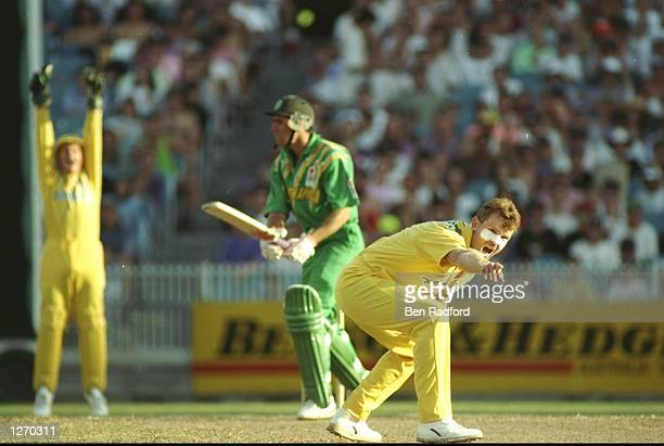 Criag McDermott of Australia appeals for a wicket during a match against South Africa at the Melbourne Cricket Ground in Australia Mandatory Credit...