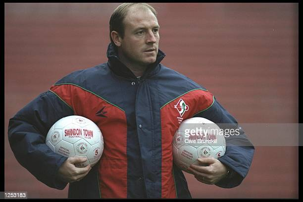 A portrait of Steve McMahon the manager of Swindon Town taken during a training session in Swindon Mandatory Credit Clive Brunskill/Allsport