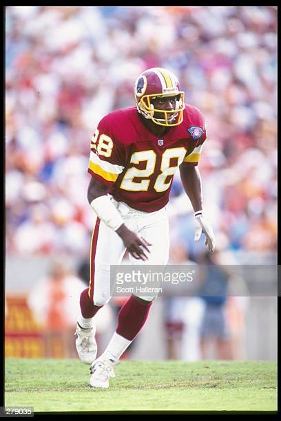 Defensive back Darrell Green of the Washington Redskins in action during the Redskins 2621 loss to the Tampa Bay Buccaneers at Tampa Stadium in Tampa...