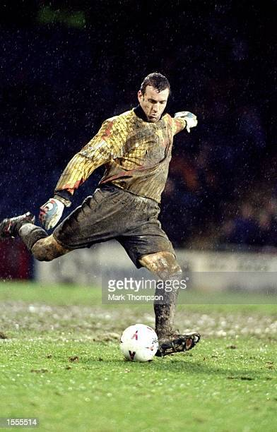Blackburn Rovers goalkeeper Tim Flowers in action during an FA Carling Premiership match against Wimbledon at Selhurst Park in London. The match...
