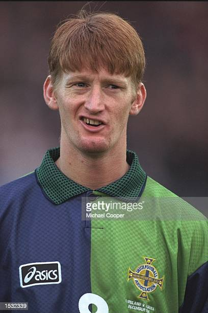 A portrait of Steve Lomas of Northern Ireland taken before the start of the world cup qualifier against Albania at Windsor Park in Belfast Mandatory...
