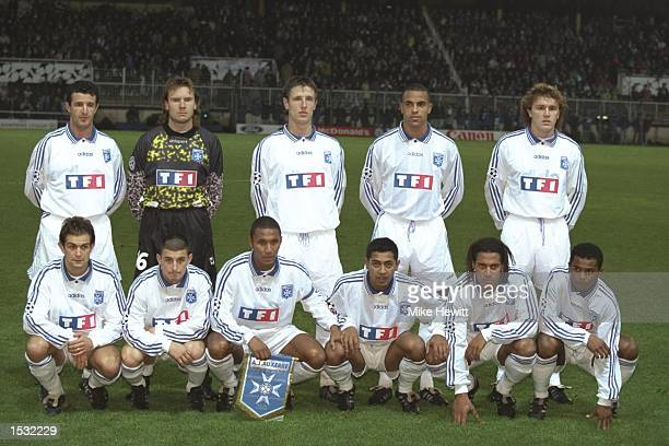 Auxerre teamgroup before the start of the champions league match between Auxerre and Rangers in France Auxerre won the match 21 Mandatory Credit Mike...