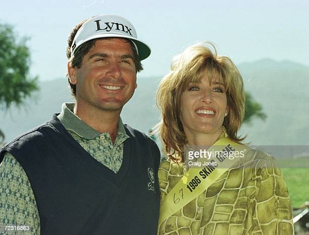 Fred Couples with girlfriend Tawnya Dodd after winning the 1996 Skins Game at Rancho La Quinta Country Club in La Quinta California Couples finished...