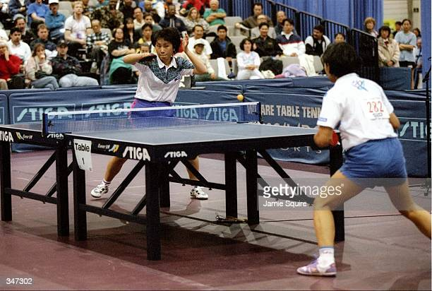 General view of a match between Any Feng and Jun Gao at the US Table Tennis Championships at the Convention Center in Las Vegas Nevada Mandatory...