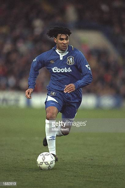 Ruud Gullit of Holland and player/manager of Chelsea in action during the Premier League match against Sheffield Wednesday at Stamford Bridge,...
