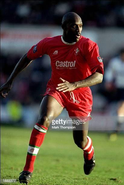 Wayne Allison of Swindon Town in action during the League Division One match against Bolton Wanderers played at the County Ground in Swindon,...