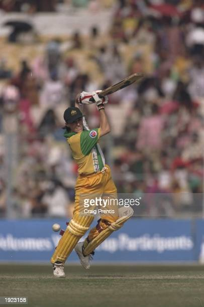 Belinda Clark of Australia batting during the Women's Cricket World Cup Final against New Zealand at Eden Gardens in Calcutta, India. Australia won...