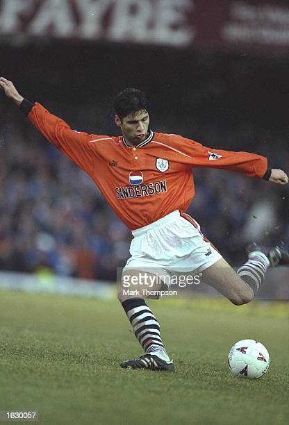 Dejan Stefanovic of Sheffield Wednesday in action during the FA Carling Premiership match against Leicester City at Filbert Street in Leicester,...