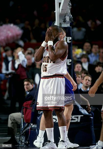 Forward Danny Fortson of the Denver Nuggets in action during a game against the Utah Jazz at the McNichols Sports Arena in Denver, Colorado. The Jazz...