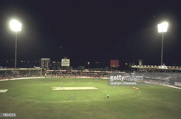 General view of the Sharjah Cricket ground during the Singer Champions Trophy in Sharjah, United Arab Emirates. \ Mandatory Credit: Graham...