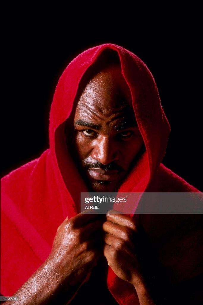 Heavyweight Champion boxer Evander Holyfield during a photo shoot in Atlanta, Georgia. Mandatory Credit: Al Bello /Allsport