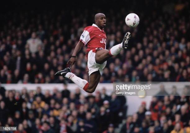 Ian Wright of Arsenal in full flight during the FA Carling Premiership match against Blackburn Rovers at Highbury Stadium in London Arsenal lost 31...