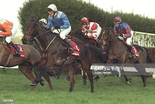 Russ Garritty on Ask Tom in action during the Tingle Creek Chase at Sandown Park Esher England Mandatory Credit Julian Herbert/Allsport