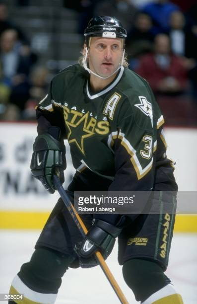 Defenseman Craig Ludwig of the Dallas Stars in action during the game against the Montreal Canadiens at the Molson Centre in Montreal Canada The...