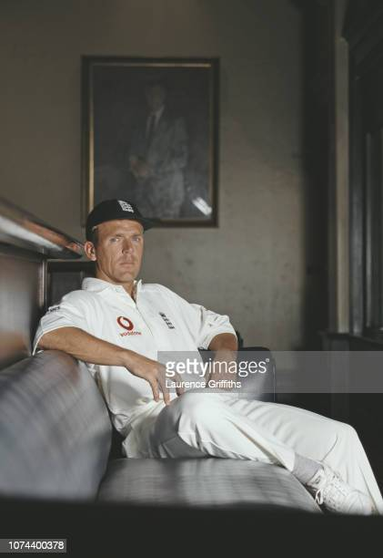 England captain Alec Stewart relaxes in the Long Room at the MCG during the 1998/99 Ashes Series in Melbourne Australia