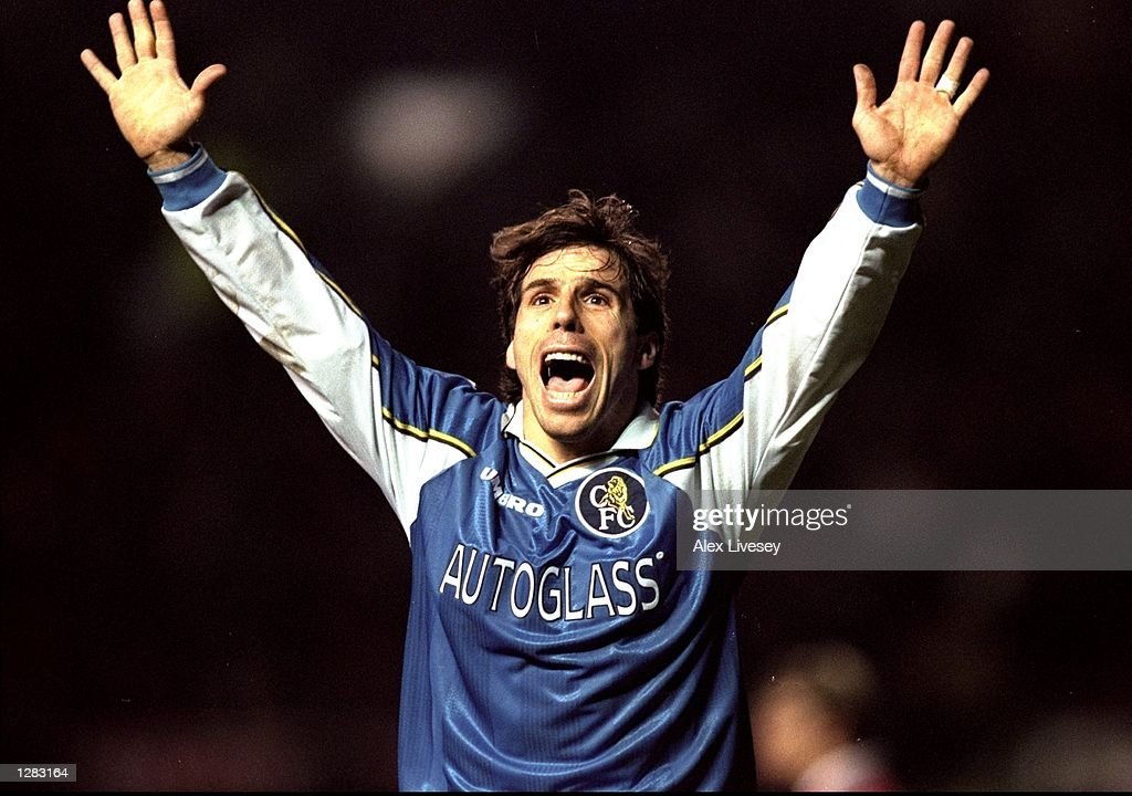 Man United v Chelsea Gianfranco Zola : News Photo