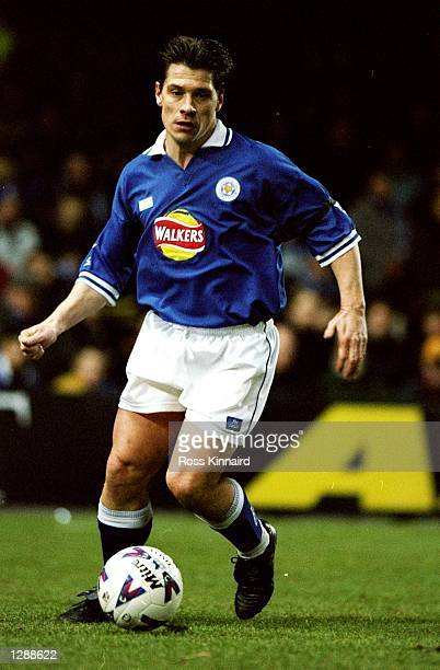 Tony Cottee of Leicester City on the ball against Blackburn Rovers in the FA Carling Premiership match at Filbert Street in Leicester England The...