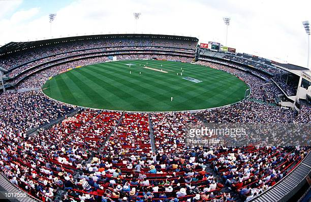 A big crowd fills the Melbourne Cricket Ground on Boxing Day in the second test match between Australia and India played at the Melbourne Cricket...