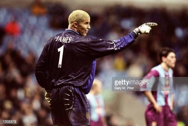 David James in goal for Aston Villa against Darlington during the FA Cup third round match at Villa Park in Birmingham England Villa won 21 Mandatory...