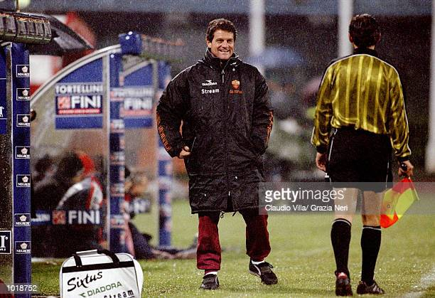 Fabio Capello the Roma coach during the Coppa Italia match between Piacenza and Roma played in Piacenza Italy Roma won the game 30 Mandatory Credit...