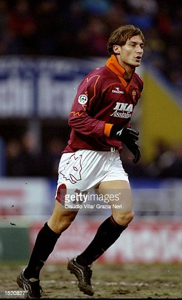 Francesco Totti of Roma in action during the Italian Serie A match against Parma played at the Stadio Tardini in Turin Italy Parma won the game 20...