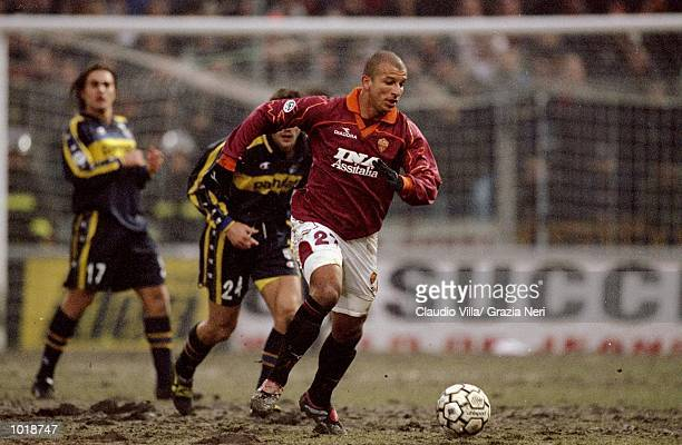 Fubio Junior of Roma in action during the Italian Serie A match against Parma played at the Stadio Tardini in Parma Italy Parma won the game 20...
