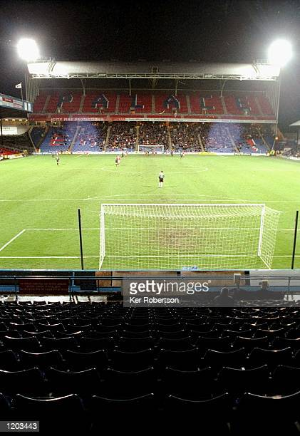 General view of Selhurst Park during the FA Cup third round match between Wimbledon and Barnsley at Selhurst Park in London Wimbledon won 10...