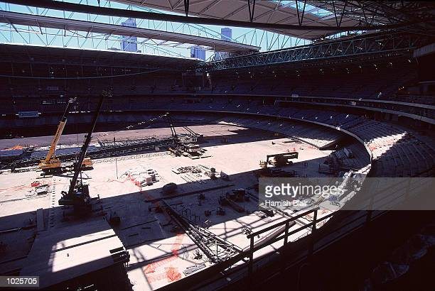 General View of the Stadium during a 1999 AFL Football feature at the Colonial Stadium in Docklands in Melbourne Australia Mandatory Credit Hamish...