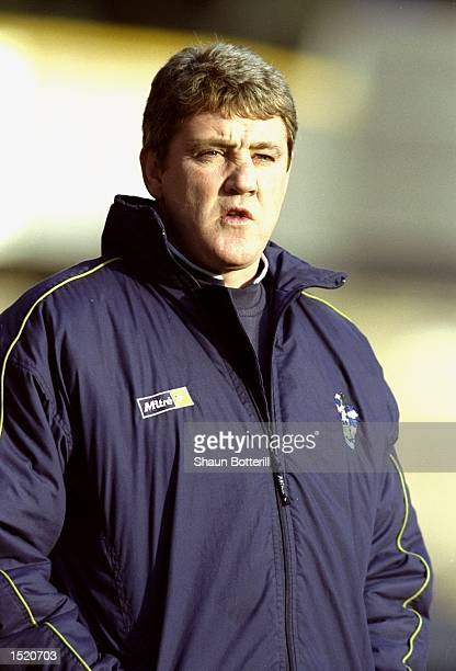 Huddersfield Town manager Steve Bruce watches the action during the Nationwide Division One match against Charlton Athletic played at the McAlpine...
