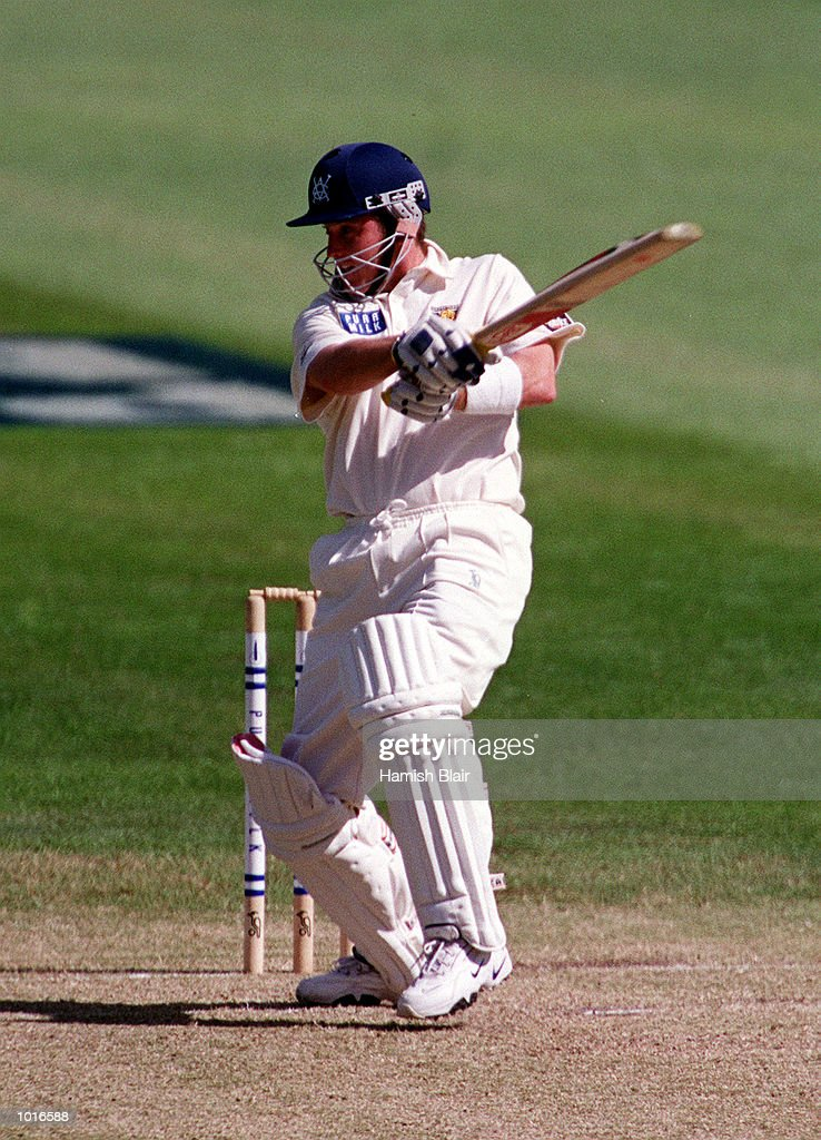 Ian Harvey of Victoria on his way to a century on day one of the Pura Milk Cup match between Victoria and Western Australia, played at the Melbourne Cricket Ground, Melbourne, Australia. Mandatory Credit: Hamish Blair/ALLSPORT