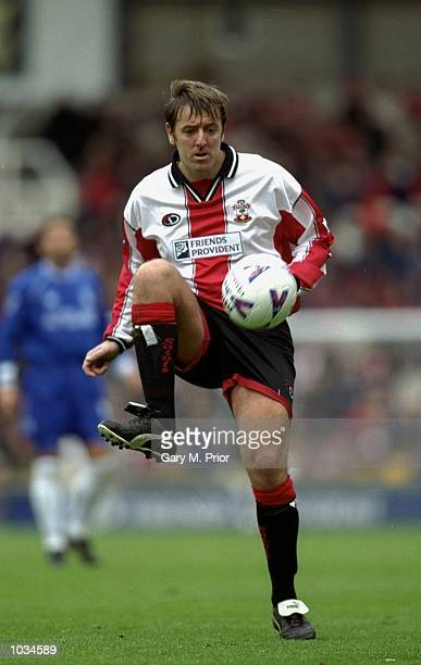 Matt Le Tissier of Southampton in action during the FA Carling Premiership match against Chelsea at The Dell in Southampton England Mandatory Credit...