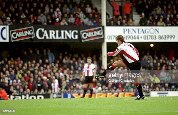 Matt Le Tissier of Southampton in action during the FA Carling Premiership match against Watford at Vicarage Road in London Watford won the match 32...
