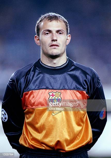 Portrait of Francesco Arnau of Barcelona lining up to face Sparta Prague in the UEFA Champions League group A match at the Nou Camp in Barcelona...