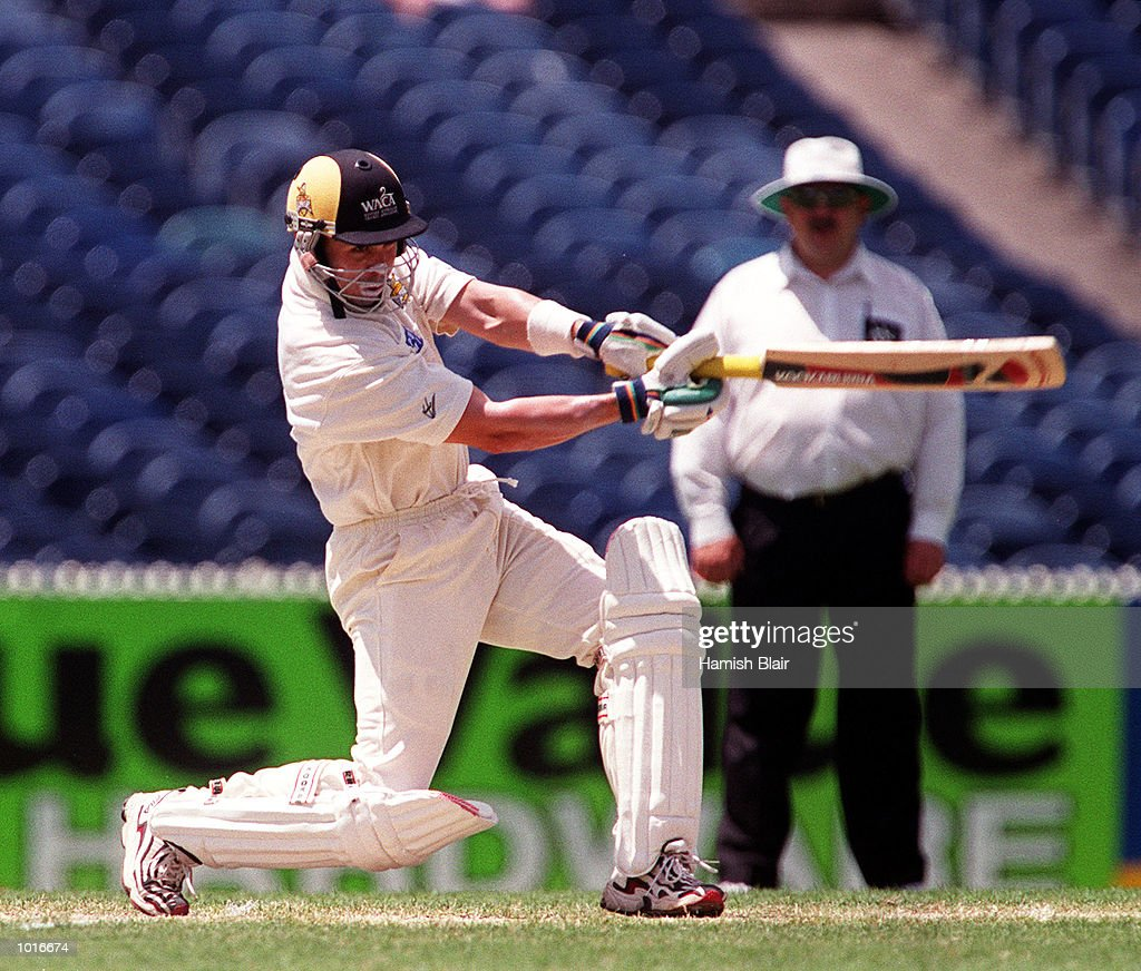 Ryan Campbell of Western Australia on his way to 59, on day two of the Pura Milk Cup match between Victoria and Western Australia, played at the Melbourne Cricket Ground, Melbourne, Australia. Mandatory Credit: Hamish Blair/ALLSPORT
